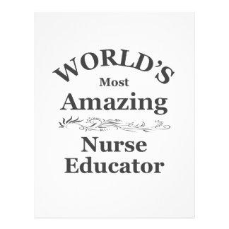 El educador más asombroso de la enfermera del mund membrete a diseño