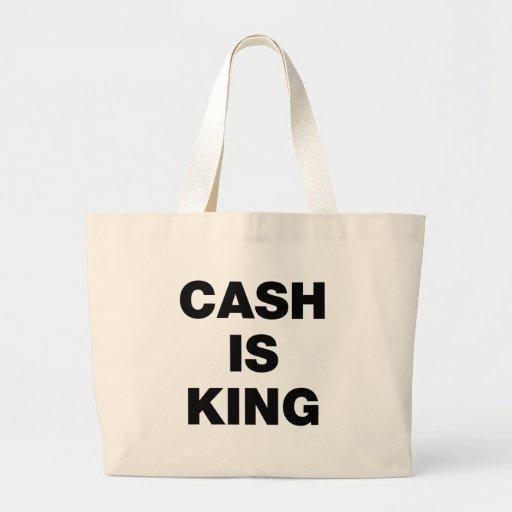 El efectivo es rey bolsa lienzo