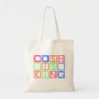 El efectivo es rey bolsa tela barata