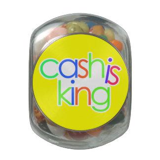 El efectivo es rey Glass Jar Frascos De Cristal Jelly Belly