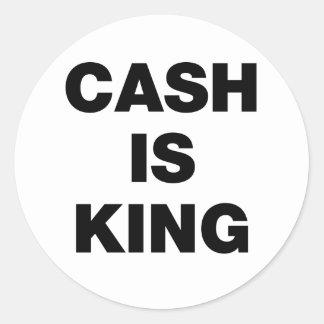 El efectivo es rey etiquetas redondas