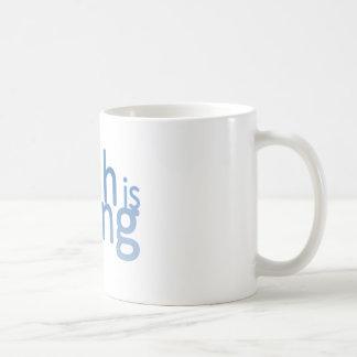 El efectivo es rey tazas de café