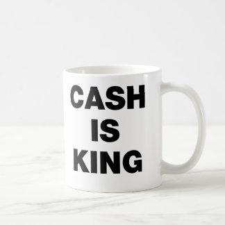 El efectivo es rey taza básica blanca