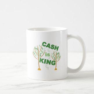 El efectivo es rey taza de café
