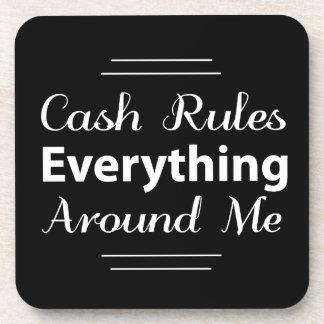 El efectivo gobierna todo alrededor de mí práctico posavasos