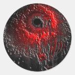 El efecto de la salpicadura pegatinas redondas