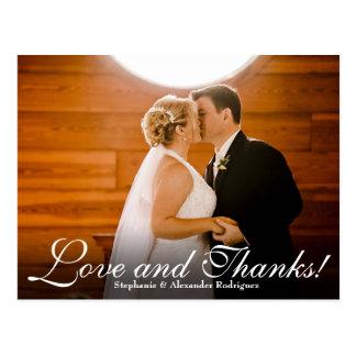 El efecto de las gracias del amor que casa la foto tarjetas postales