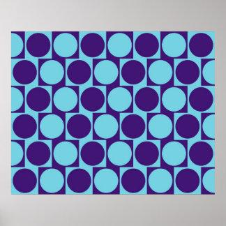 El efecto de pared del café de la ilusión óptica c póster