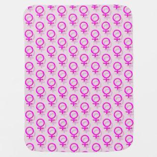 El efecto femenino rosado del sex symbol 3D tejó Mantita Para Bebé