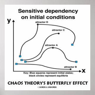 El efecto mariposa de la teoría del caos (sensibil póster