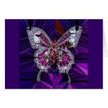 El efecto mariposa real - zafiro y amatista tarjeta de felicitación