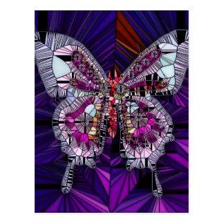 El efecto mariposa real - zafiro y amatista postal
