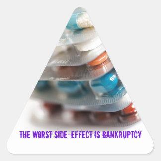 El efecto secundario peor es quiebra pegatina de triangulo