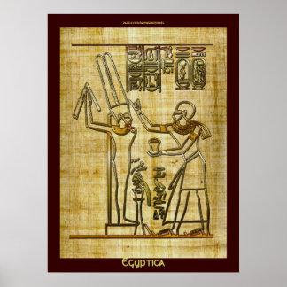 El egipcio figura el poster del arte en efecto del