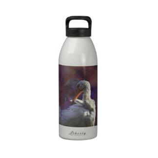 El Egret nevado Botellas De Agua Reutilizables