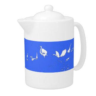 El Egret siluetea la tetera