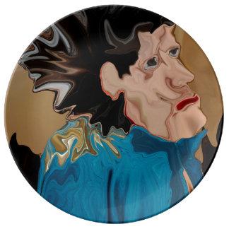 El eje de balancín en melios platos de cerámica