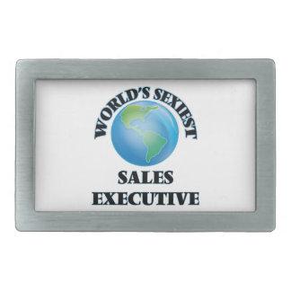 El ejecutivo de las ventas más atractivo del mundo hebilla de cinturón rectangular