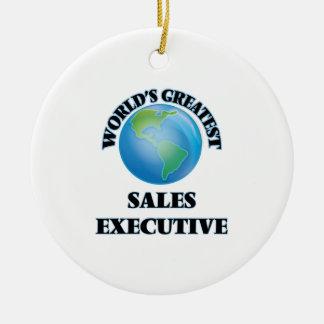 El ejecutivo de las ventas más grande del mundo adorno redondo de cerámica