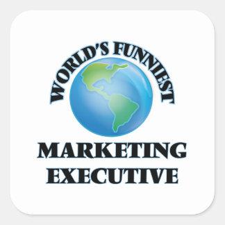 El ejecutivo de marketing más divertido del mundo pegatina cuadrada