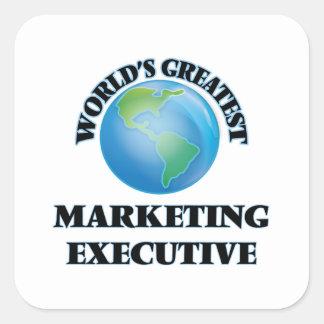 El ejecutivo de marketing más grande del mundo pegatina cuadrada