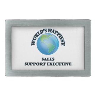 El ejecutivo más feliz de la ayuda de las ventas hebillas cinturon rectangulares