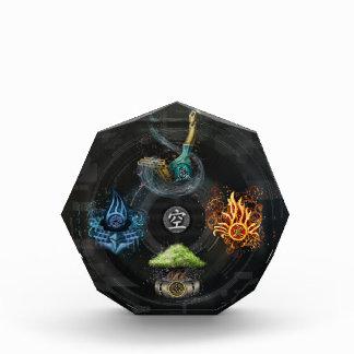 El ejemplo del arte del kanji de los elementos de