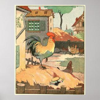 El ejemplo del guión del gallo póster