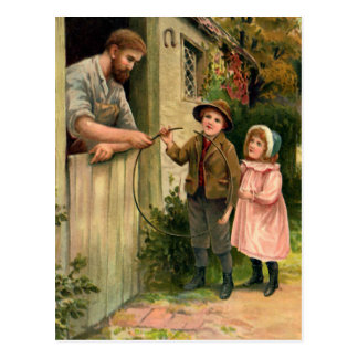 El ejemplo del vintage del herrero tarjeta postal