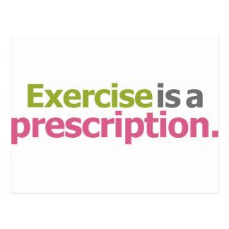 El ejercicio es una prescripción postal