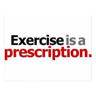 El ejercicio es una prescripción tarjetas postales