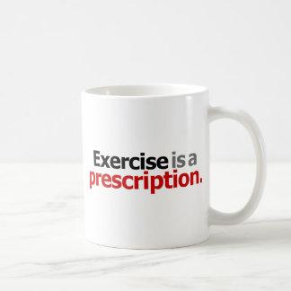 El ejercicio es una prescripción taza de café