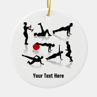 El ejercicio figura (personalizado) adorno