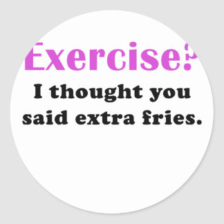El ejercicio I pensó que usted dijo las fritadas Pegatina Redonda