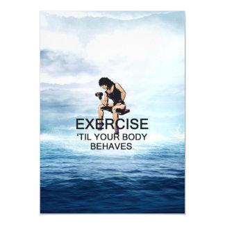 El ejercicio SUPERIOR hasta cuerpo se comporta Invitaciones Magnéticas