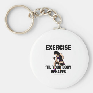 El ejercicio SUPERIOR hasta su cuerpo se comporta Llavero Redondo Tipo Pin