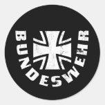 El Ejército alemán Deutschland, Luftwaffe, fuerza Pegatinas Redondas