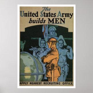 El ejército construye a HOMBRES Impresiones
