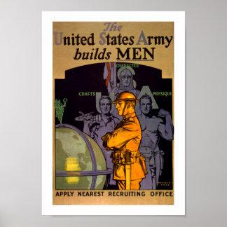 El ejército construye a HOMBRES Poster
