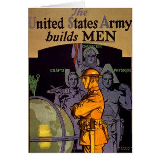 El ejército construye a HOMBRES Tarjeta De Felicitación