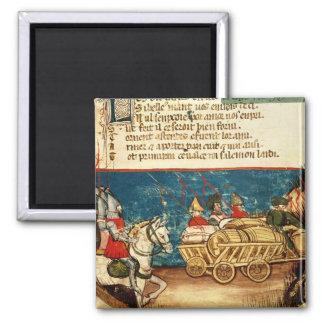 El ejército de Carlomagno y del transporte Iman De Nevera