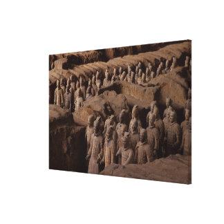 El ejército de guerreros de la terracota en el emp lona estirada galerias