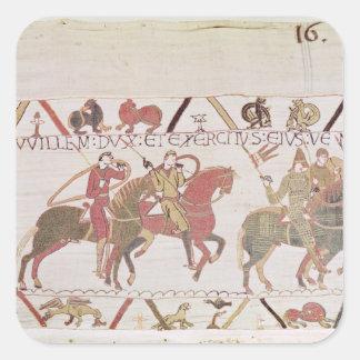 El ejército de Guillermo que va al Saint-Michel de Etiqueta
