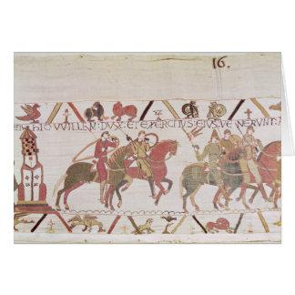 El ejército de Guillermo que va al Saint-Michel de Tarjeta De Felicitación
