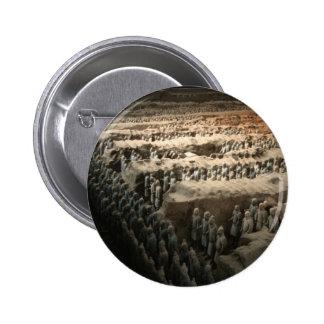 El ejército de la terracota pin redondo 5 cm