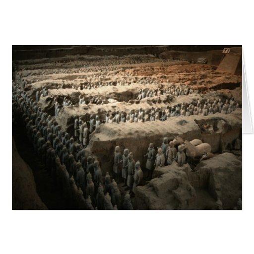 El ejército de la terracota tarjetón