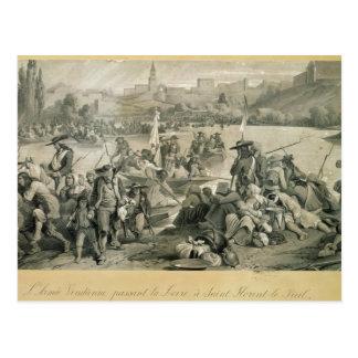 El ejército de Vendean que cruza el Loira Postal