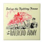 El Ejército-Detrás del ferrocarril encima de las Azulejo Cuadrado Pequeño