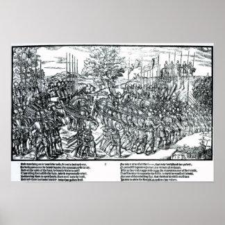 El ejército inglés que marcha con sir Henry Sidney Póster