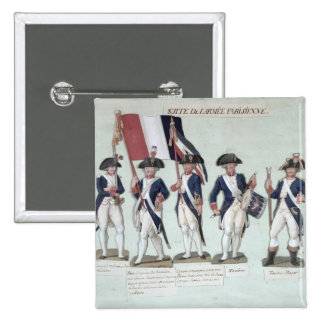 El ejército parisiense durante el francés pin cuadrado